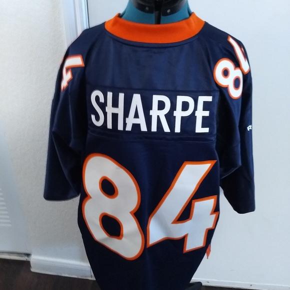 official photos 4c0b2 3f92d Denver Broncos Shannon Sharpe NFL Reebok Jersey